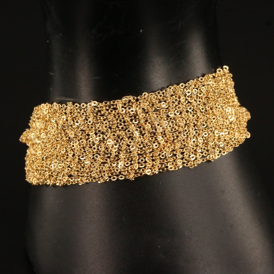 Sterling Silver Woven Link Bracelet
