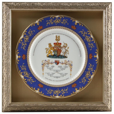 Framed Aynsley China Royal Wedding Commemorative Plates