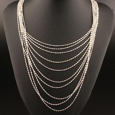 Sterling Multi-Strand Beaded Festoon Necklace