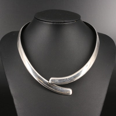 Mexican .950 Silver Hinged Collar Necklace