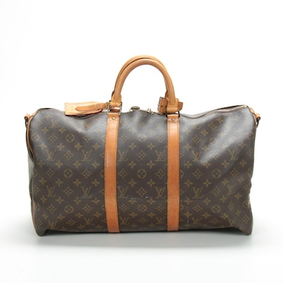 Louis Vuitton Keepall Bandoulière 50 in Monogram Canvas and Vachetta Leather