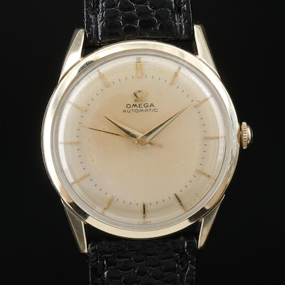 1950's Omega 14K Gold Filled Automatic Wristwatch