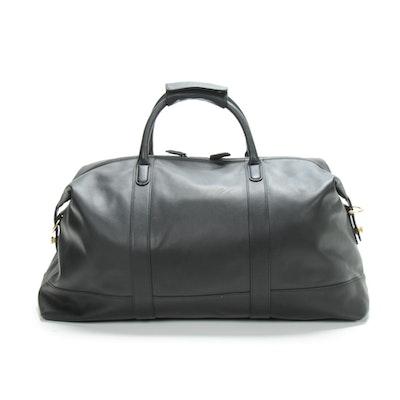 Coach Cabin Duffel Bag in Black Leather
