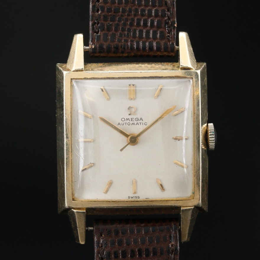 Omega 14K Gold Filled Automatic Wristwatch, Circa 1954