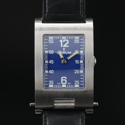 "Corum ""Taboggan"" Stainless Steel Folding Case Quartz Wristwatch"
