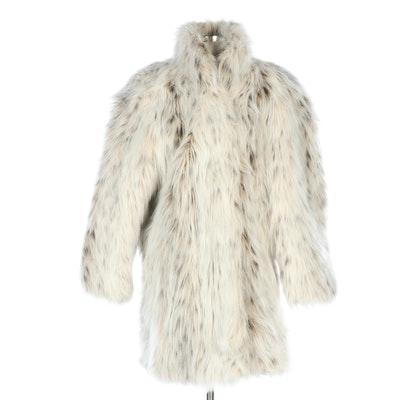 Sportowne Faux Fur Stroller Coat, Vintage