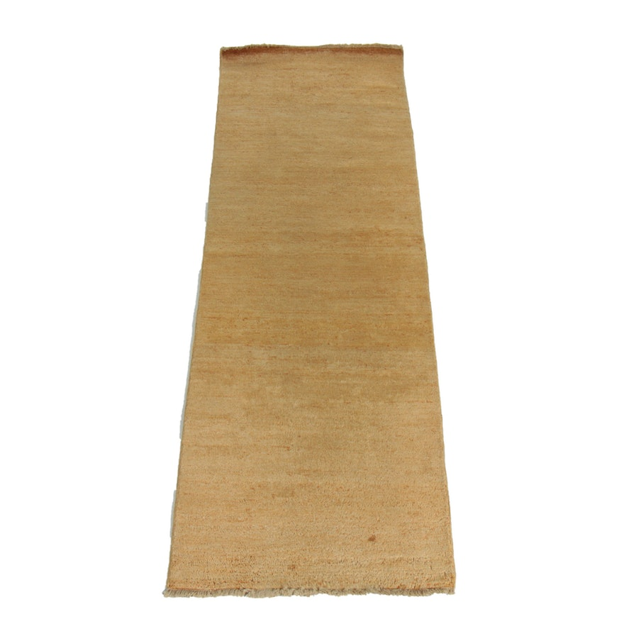 2'6 x 8'3 Hand-Knotted Wool Gabbeh Runner Rug