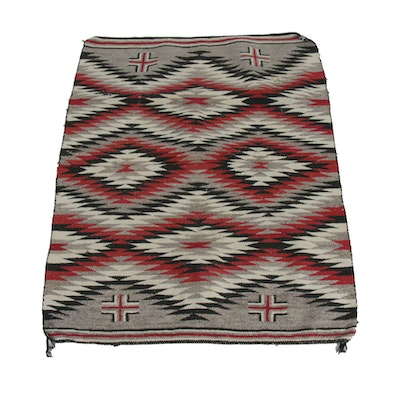3'8 x 4'9 Handwoven Navajo Red Mesa Wool Accent Rug
