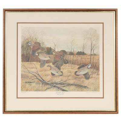 "John A. Ruthven Offset Lithograph ""Bobwhite Quail"""