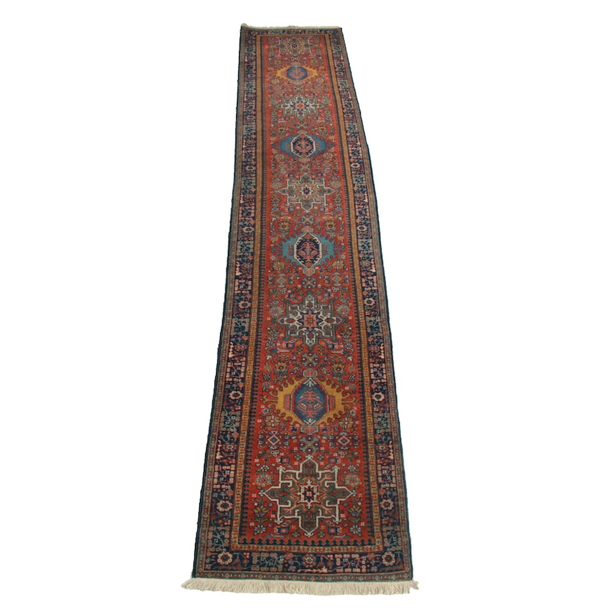 2'9 x 15' Hand-Knotted Persian Wool Runner Rug