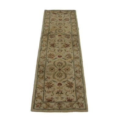 2'4 x 7'11 Hand-Knotted Indian Jaipur Wool Rug