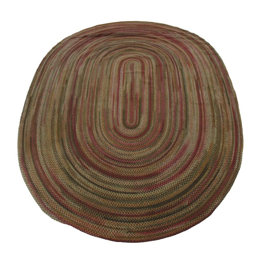 9'8 x 13'9 Hand-Braided Wool Room-Size Rug