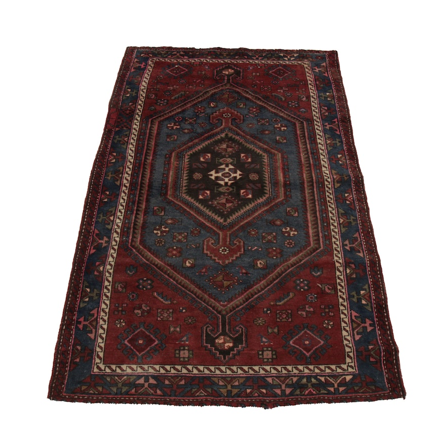 4'4 x 7'3 Hand-Knotted Wool Area Rug