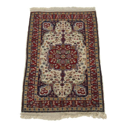 2' x 3' Hand-Knotted Wool Tabriz Accent Rug