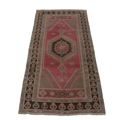 3'10 x 7'9 Hand-Knotted Kazak Wool Area Rug