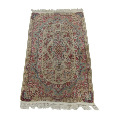 3' x 5'9 Hand-Knotted Persian Floral Wool Accent Rug