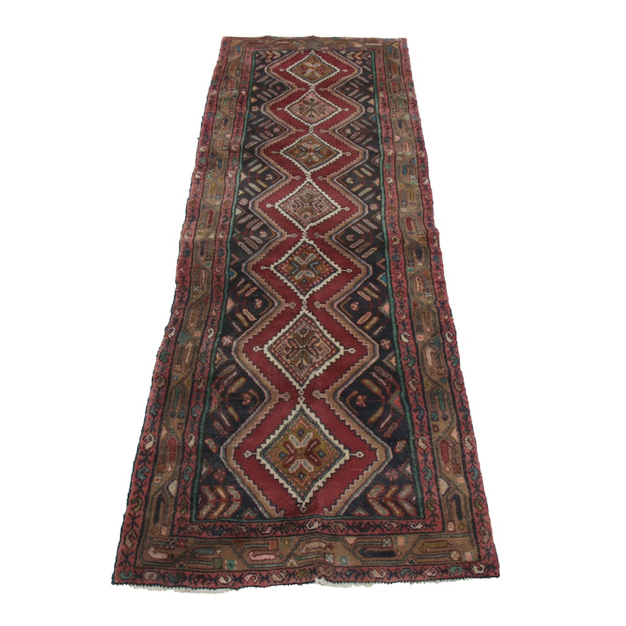 3'5 x 10'5 Hand-Knotted Wool Runner Rug