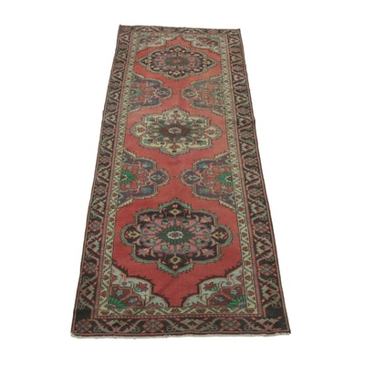 4' x 11'3 Hand-Knotted Wool Runner Rug