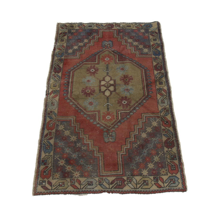 3'8 x 5'9 Hand-Knotted Wool Accent Rug