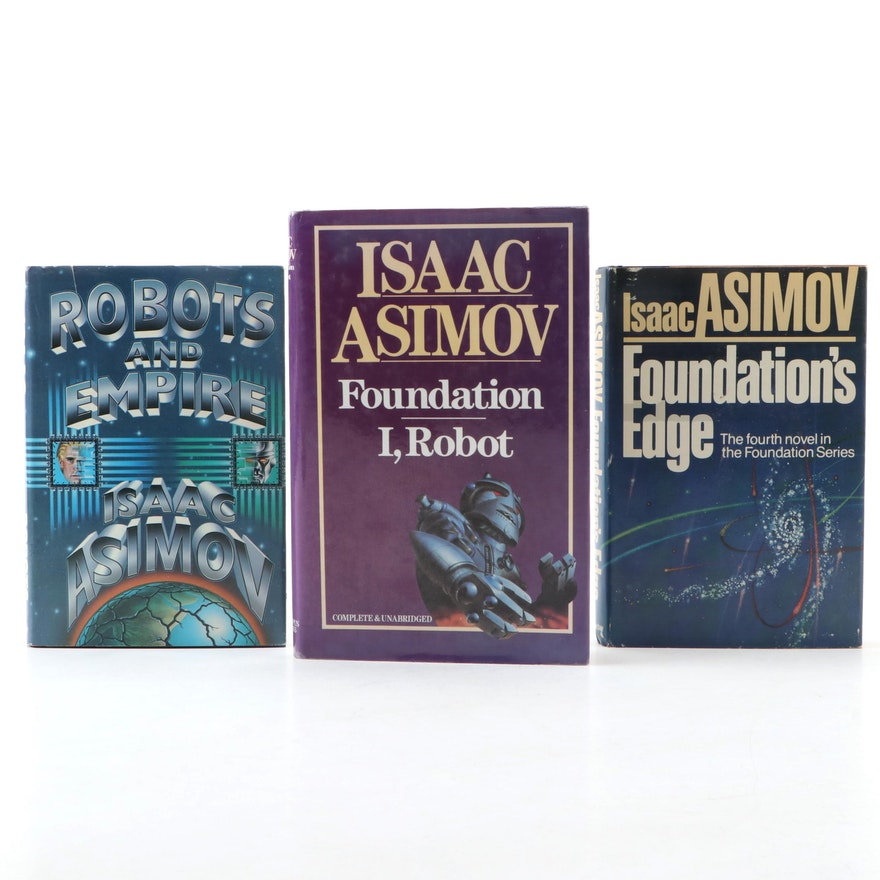 """Science Fiction Books by Isaac Asimov Featuring """"Foundation and I, Robot"""""""