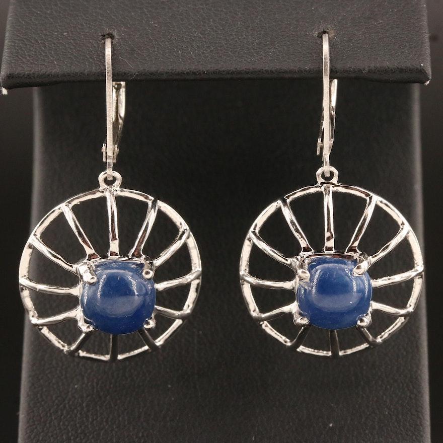 Sterling Silver Corundum Dangle Earrings
