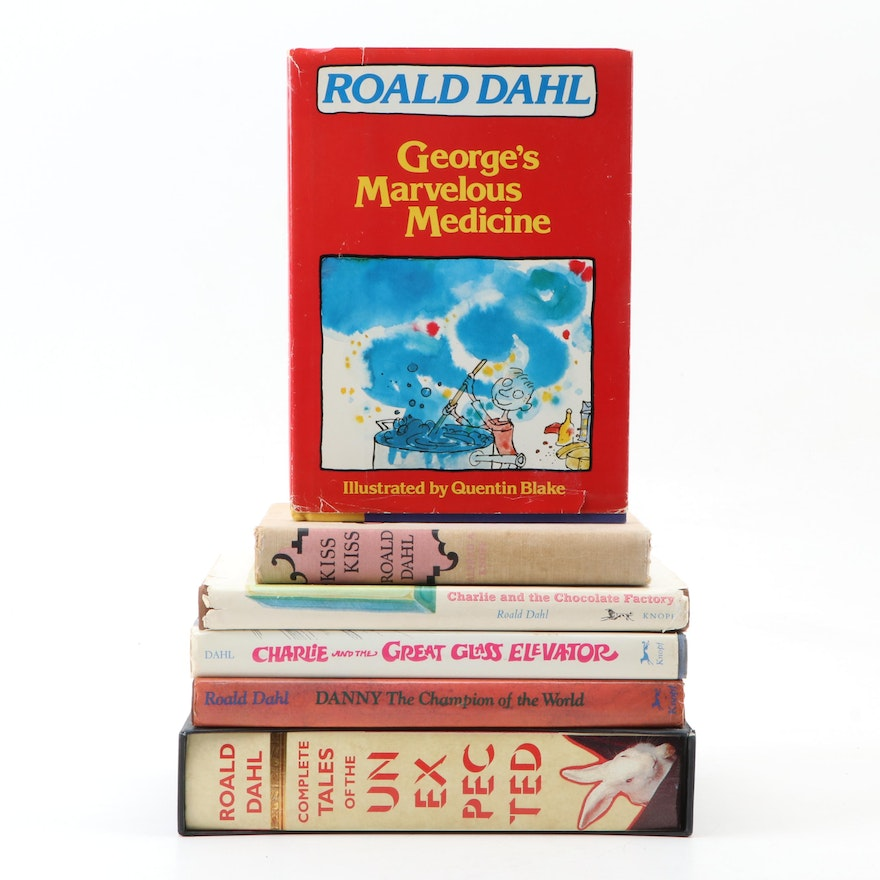 """Roald Dahl Books featuring First American Printing """"George's Marvelous Medicine"""""""