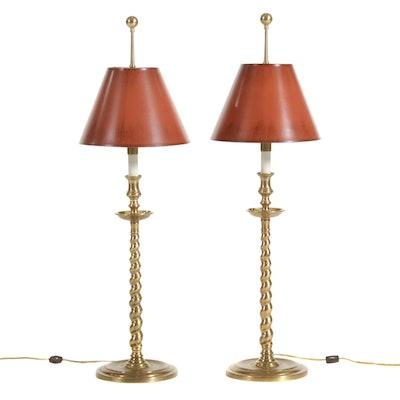 Frederick Cooper Brass Buffet Lamps