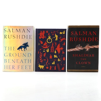 "Signed First Edition ""Shalimar the Clown"" with More Salman Rushdie Books"