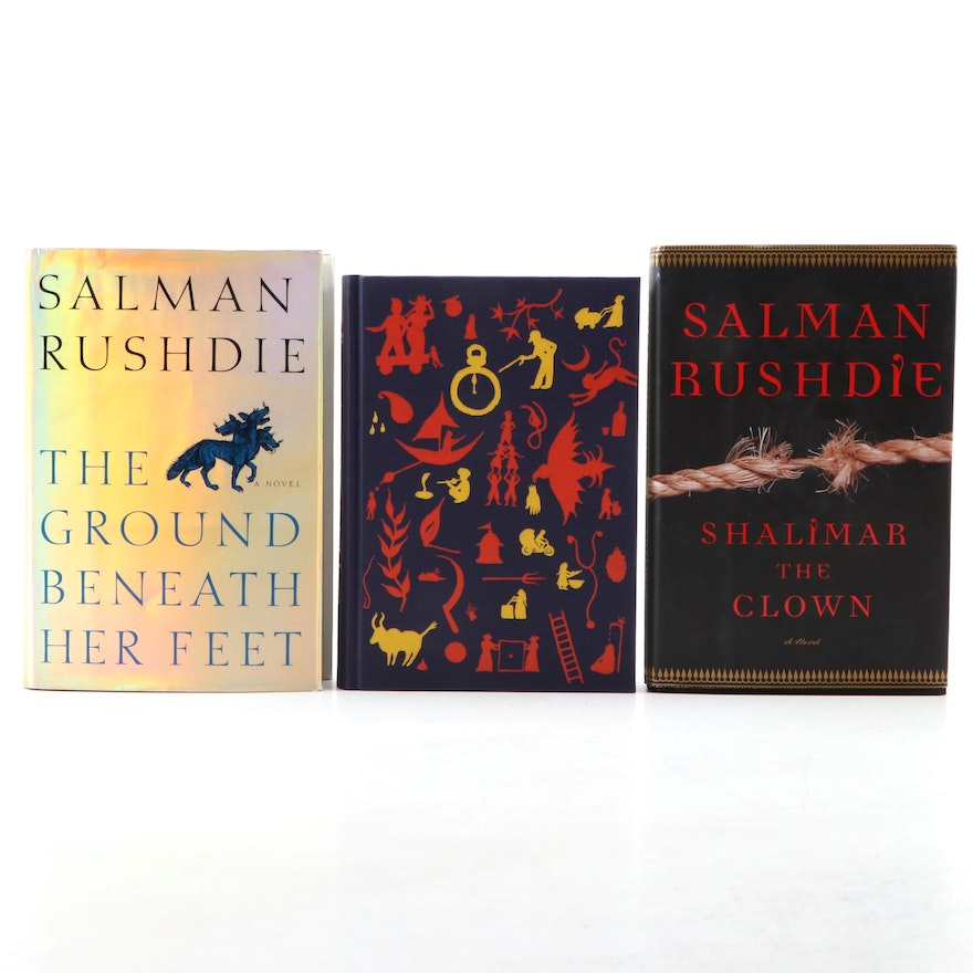 """Signed First Edition """"Shalimar the Clown"""" with More Salman Rushdie Books"""