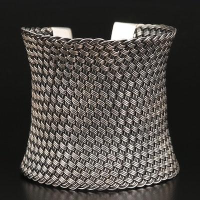 Suarti Woven Concave Cuff Bracelet