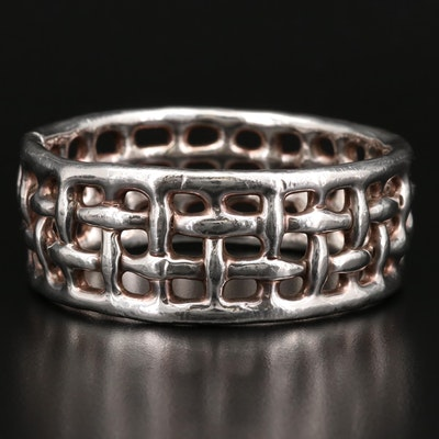 Sterling Silver Hollow Form Bracelet