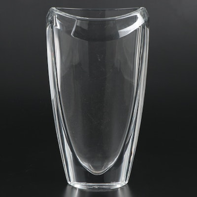 Signed Waterford Crystal Eclipse Flower Vase, 21st Century