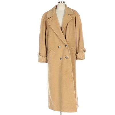 Regency Camel Hair Long Coat for Saks Fifth Avenue with Pick Stitch Detailing
