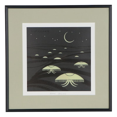 "Offset Lithograph After Charley Harper ""Moon Jellies"""