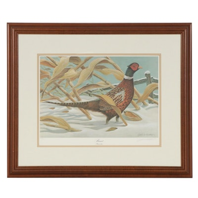 "John A. Ruthven Offset Lithograph ""Pheasant"""