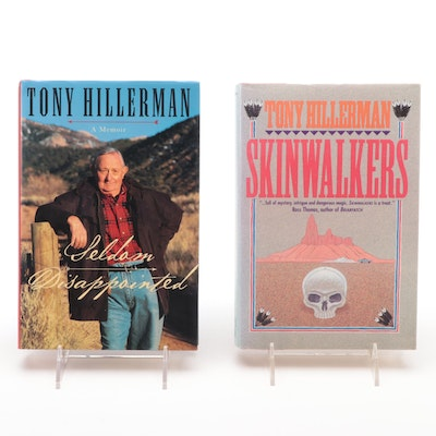 "Signed First Editions ""Seldom Disappointed"" and ""Skinwalkers"" by Tony Hillerman"