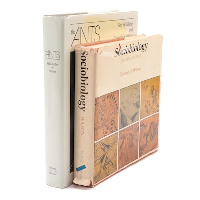 "Signed First Edition ""Sociobiology"" with ""The Ants"" by Edward O. Wilson"