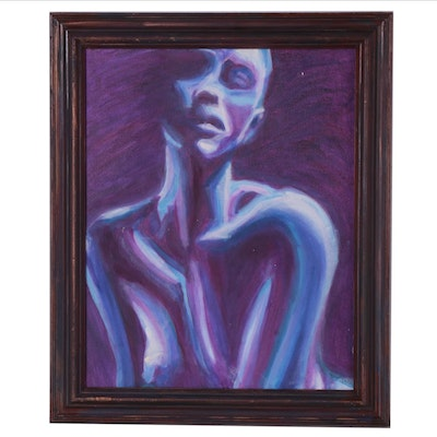 Oil Painting of Purple Figure, 2015