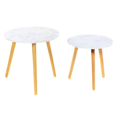 Contemporary Faux Marble Top Children's Tables