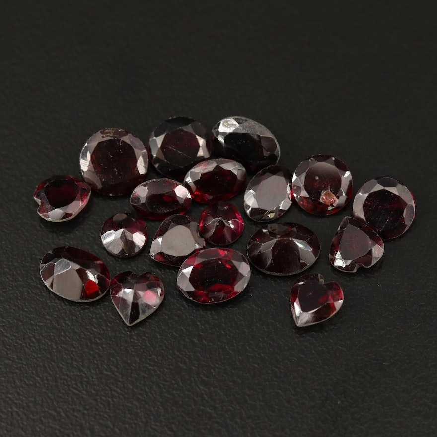 Loose 21.55 CTW Faceted Garnets