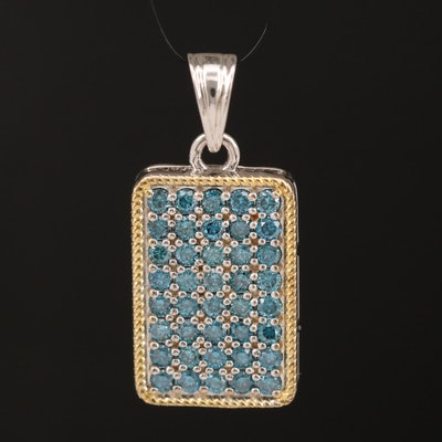 Sterling Silver 1.00 CTW Diamond Pendant