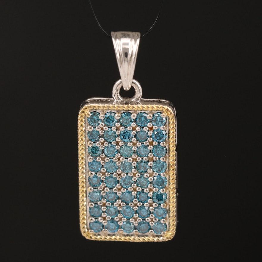 Sterling Silver 1.00 CTW Diamond Pendant
