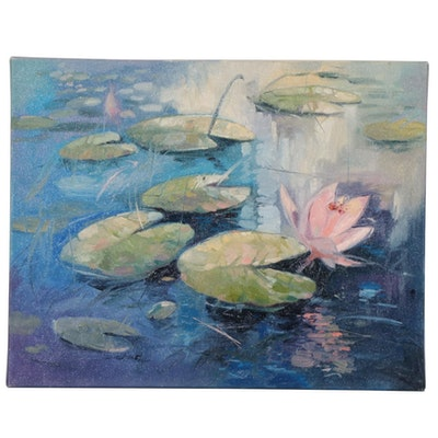 "Said Oladejo-lawal Oil Painting ""Impressionist Remembered I"""