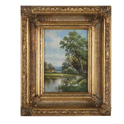 Pastoral Landscape Oil Painting, 21st Century