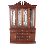 Jamestown Sterling 2-Piece Cherry Illuminated China Cabinet, Late 20th Century