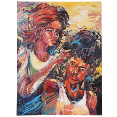 "Said Oladejo-lawal Acrylic Painting ""I'm Not My Skin"""