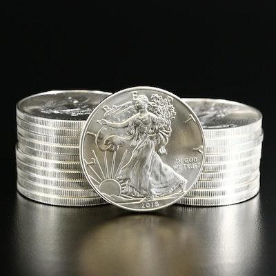 Twenty 2016 $1 American Silver Eagle Bullion Coins