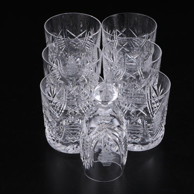 "Waterford Crystal ""Christmas Suite"" Old Fashioned Glasses and Bell"
