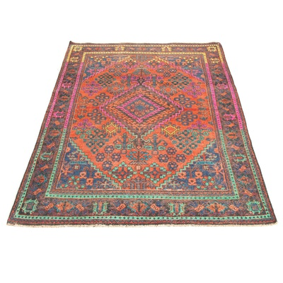 4'4 x 6'8 Hand-Knotted Persian Josheghan Rug, 1960s