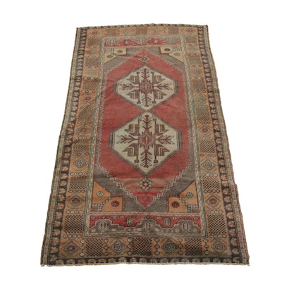3'9 x 7'2 Hand-Knotted Wool Rug